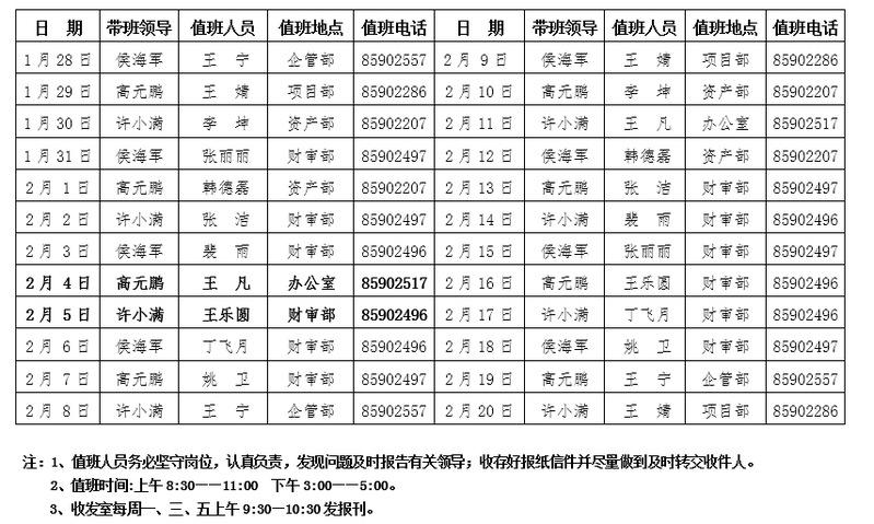 香港清明节放假时间_控股公司机关2019年寒期轮休值班表
